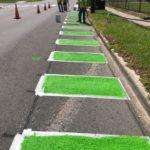Brand New Bike Lanes on Newton Street